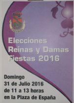 ELECCIONES REINAS Y DAMAS FIESTAS 2016