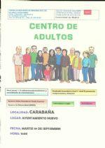 ABIERTO EL PLAZO DE MATRÍCULA DE LA ESCUELA DE ADULTOS CARABAÑA