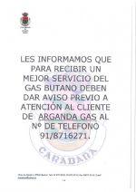 TELÉFONO DE ATENCIÓN AL CLIENTE DE ARGANDA GAS